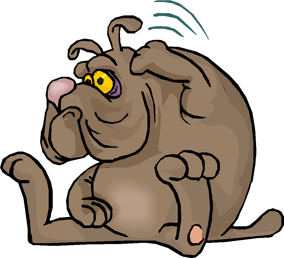 Scratching dog courtesy of Microsoft Clipart